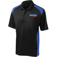 THROTTLE THREADS PSU36CS416BRBLG Parts Unlimited Polo Shirt - Black/Blue - Large 3040-2892