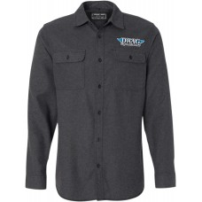 THROTTLE THREADS DRG24S82CHLR Drag Specialties Flannel Shirt - Charcoal - Large 3040-2322