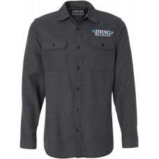THROTTLE THREADS DRG24S82CHXR Drag Specialties Flannel Shirt - Charcoal - XL 3040-2323