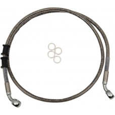 DRAG SPECIALTIES 614772 Front Brake Line - XL - Stainless Steel 1741-5398