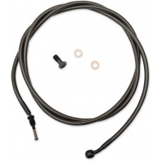 LA CHOPPERS LA-8054C19M Midnight Braided Clutch Cable