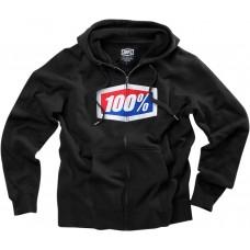 100% 36005-001-12 Official Fleece Zip-Up Hoodie - Black - Large 3050-3430
