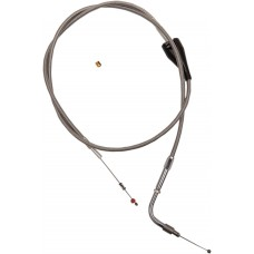 """BARNETT 102-30-41001-03 Extended 3"""" Stainless Steel Idle Cable w/ Cruise for '02 - '07 FLHR DS-223576"""