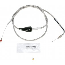 """BARNETT 102-30-41001-8 Extended 8"""" Stainless Steel Idle Cable w/ Cruise 0651-0672"""