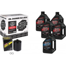MAXIMA RACING OIL 90-119015PB Sportster Synthetic 20W-50 Oil Change Kit - Black Filter 3601-0718
