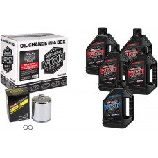 MAXIMA RACING OIL 90-119015PC Sportster Synthetic 20W-50 Oil Change Kit - Chrome Filter 3601-0719