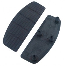 V-FACTOR Replacement Square Sided Black Rubber Pads only with Square Pad pattern and built-in Isolator Mounts (Pair) Replaces HD# 50614-91A 25504