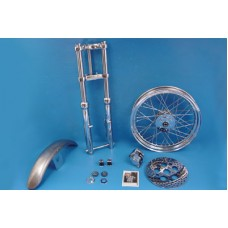 39mm Chrome Fork Assembly with 19