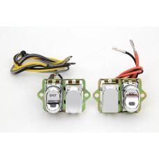 Rocker Style LED Handlebar Switch Kit Chrome 32-7022
