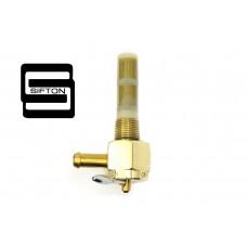 Sifton Brass Hex Petcock 90 Degree Left Hand Spigot 35-0756