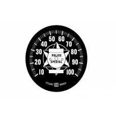 Speedometer with Black Tin Face 39-0067