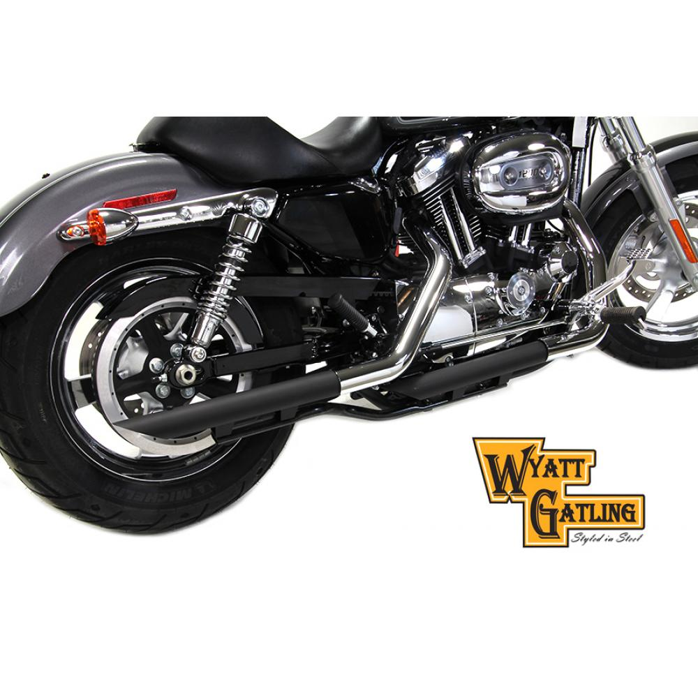 Wyatt Gatling Drag Exhaust Pipe Extension Set 30-0446   Vital V-Twin Cycles