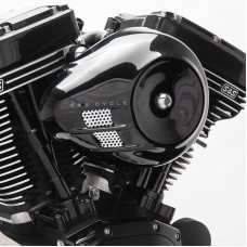 S&S Cycle Stealth Air Cleaner Kit with Black Air Stream Cover for 2007-2019 XL Models 170-0494A