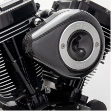 S&S Cycle Stealth Air Cleaner Kit With Carbon Fiber Teardrop for 2001-'17 Twin Cam Models, except Throttle by Wire 170-0499