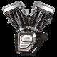S&S T124 Engine for 2006-'17 HD Dyna Models - Wrinkle Black 310-0882