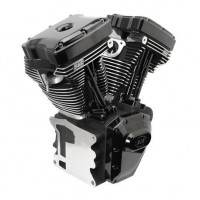 S&S T143 Black Edition Longblock Engine for Select 1999-'06 HD Twin Cam 88, 95, 103 Models - 635 GPE Cams 310-0833