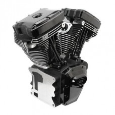 S&S T124 Black Edition Longblock Engine for Select 1999-'06 HD Twin Cam 88, 95, 103 Models - 585 GPE Cams 310-0832