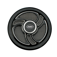 S&S Cover, Air Cleaner, Torker, Gloss Black 170-0206