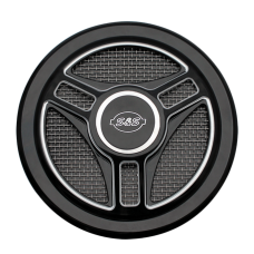 S&S Cover, Air Cleaner, Tri-Spoke, Gloss Black 170-0210