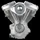 S&S Engine, Assembled, V80, Super E, Super Stock Ignition, 508 Cam, Natural, Cast, 1984-'99 bt 310-0237