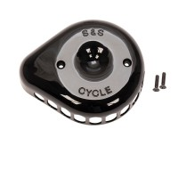 S&S Gloss Black Mini Teardrop Stealth Air Cleaner Cover 170-0366