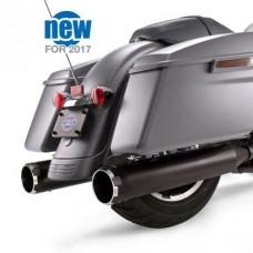 """S&S Mk45 Black Thruster End Cap - Ceramic Black Body Finish - 4.5"""" Slip-On Muffler for 2017-'18 M8 Touring Models 550-0666"""