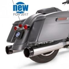 """S&S Mk45 Black Tracer End Cap - Chrome Body Finish - 4.5"""" Slip-On Muffler for 2017-'18 M8 Touring Models 550-0668"""