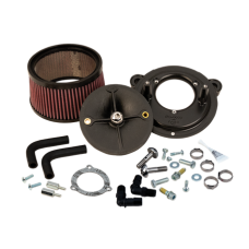 S&S Stealth Air Cleaner Kit Without Cover For 2008-'16 HD Touring Models, 2009-'16 Tri-Glide, and 2011 Softail CVO with S&S 70mm Throttle Hog 170-0250