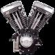 S&S V111 Long Block Engine for 1984-1999 Models - Wrinkle Black 310-0766