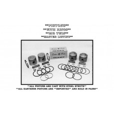 PISTONS W/RINGS, 1200C/C 10 To 1 E-819-030