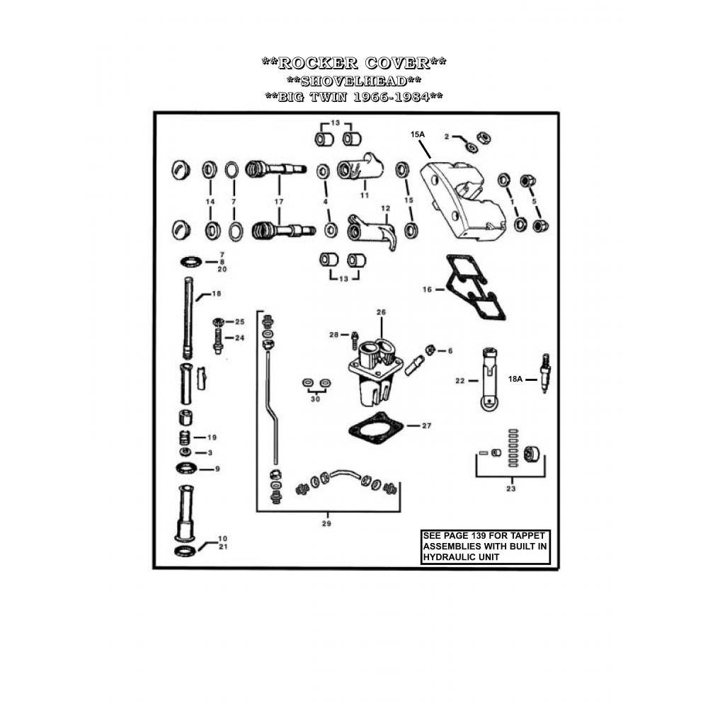 Harley SHOVELHEAD 66-84 Rocker Arm Shafts oem 17611-66B