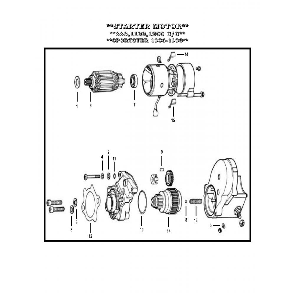 Harley Davidson Starter Armature Diagram Complete Wiring Diagrams Bearing Motor A 8878 Vital V Twin Cycles Rh Vtwin Parts Evolution Engine Motorcycle
