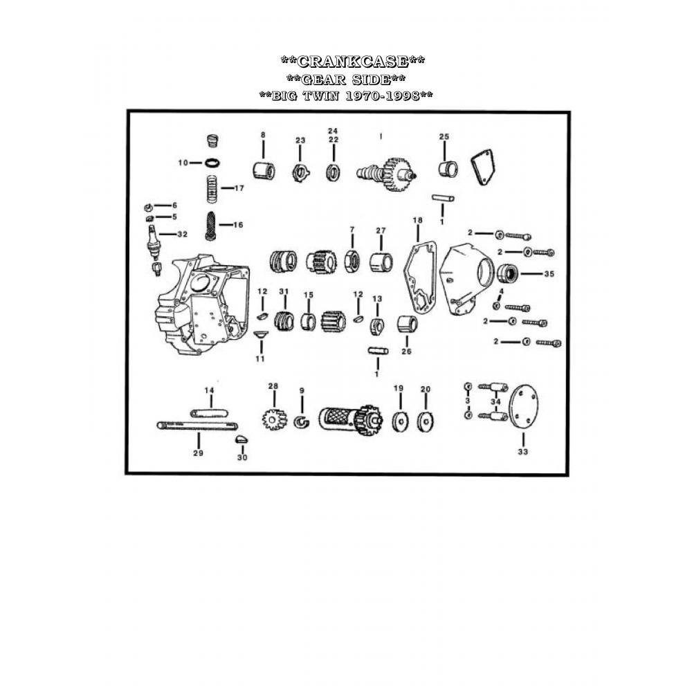 Harley Davidson OEM Crankcase Oil Screen 24981-70