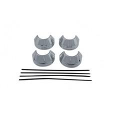 41mm Chrome Fork Boot Cover Set 24-9993