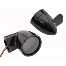 Black Revox Bullet Style LED Front Turn Signal Set 33-5017