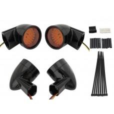 Black Revox Bullet Style LED Turn Signal Lamp Kit 33-5004