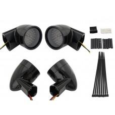 Black Revox Bullet Style LED Turn Signal Lamp Kit 33-5010