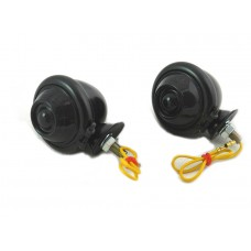 Black Turn Signal Set Bullet with Smoked Lens 33-1127