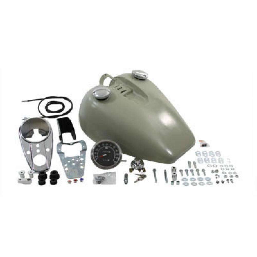 Bobbed 3.2 Gallon Gas Tank,for Harley Davidson,by V-Twin
