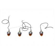 Bullet Style Krommet Marker Lamp Stud Amber 33-2062