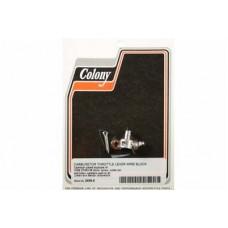 Cadmium Carburetor Throttle Lever Wire Block 2658-5