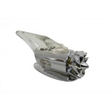 Chrome Amber Fan Operated Marker Lamp 33-0879