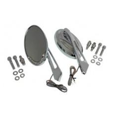 Chrome Billet Mirror Set 34-9163