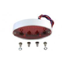 Chrome Billet Oval LED Tail Lamp 33-0443