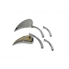 Chrome Billet Tear Drop Mirror Set 34-0860