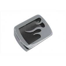 Chrome Coil Cover with Flame Accent 42-1529