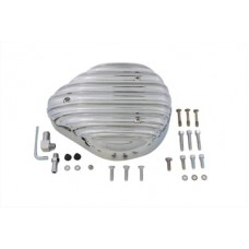 Chrome Finned Tear Drop Air Cleaner 34-0530
