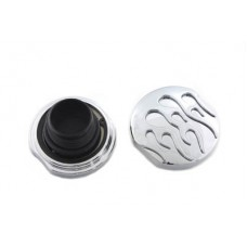 Chrome Flame Style Vented and Non-Vented Gas Cap Set 38-1343