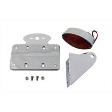 Chrome Horizontal Cateye Tail Lamp Kit 33-0345