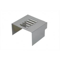 Chrome Louvered Battery Side Cover 42-0003
